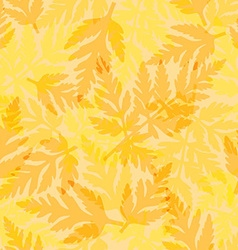 Seamless pattern with fern vector image
