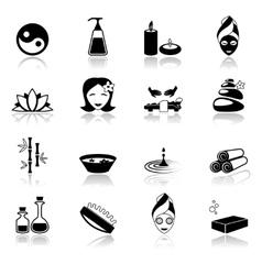 Spa icons black vector image vector image