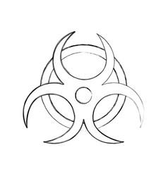 Atomic caution signal icon vector