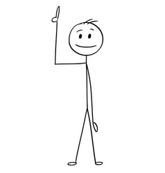 cartoon of businessman pointing up vector image