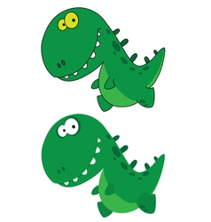 little funny dino vector image vector image