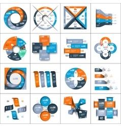 Modern paper infographics set vector image