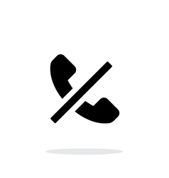 No call simple icon on white background vector image