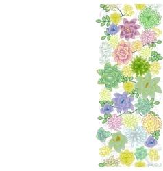 Succulent garden border card design vector image vector image