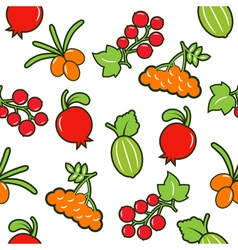 berry seamless background vector image vector image