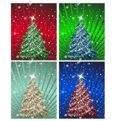 Christnas card set vector image vector image