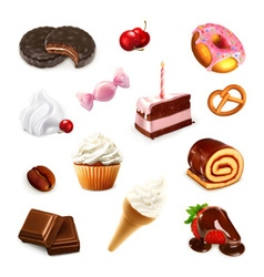 Confectionery set 2 vector image vector image