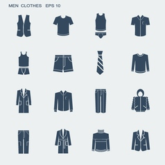 Fashion clothes for men isolated on white vector image vector image