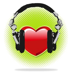 I love Music vector image