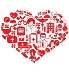 medical heart symbol vector image