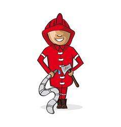 Profession fire man cartoon figure vector image