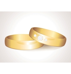 realistic rings vector image vector image
