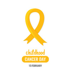 world childhood cancer day vector image vector image