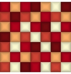 3d square mosaic Abstract colorful background vector image