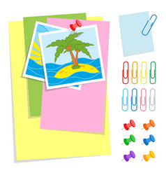 a set of colored sheets of different sizes and vector image
