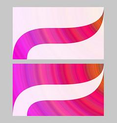 Abstract art business card template design set vector
