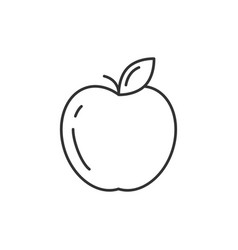 Apple outline icon vector