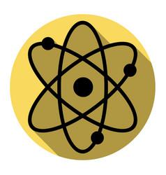 atom sign flat black icon vector image
