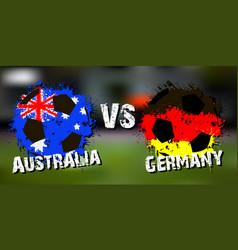 Banner football match australia vs germany vector