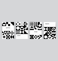 bauhaus poster minimal monochrome geometric vector image