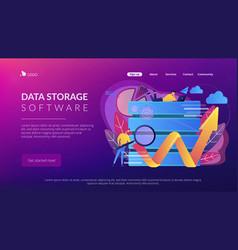 Big data tools concept vector