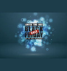 black friday sale banner black text with red tag vector image