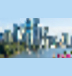Blurred city skyscrapers background vector