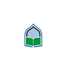 book mosque icon logo vector image