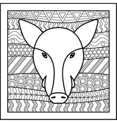 Chinese zodiac sign Boar vector image