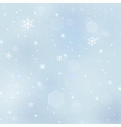 Christmas background with snowflakes stars bursts vector