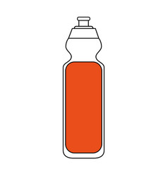 Color silhouette cartoon sports bottle for liquids vector