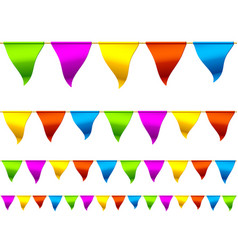 colorful bunting flags vector image