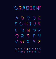 Colorful gradient alphabet set vector