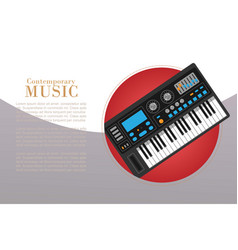 Contemporary music with electronic piano vector