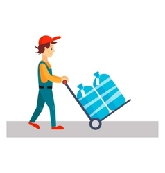 Delivery Man with Water vector image