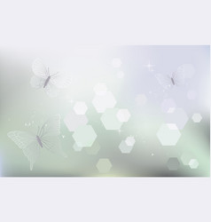 Desktop wallpaper background with butterflies vector