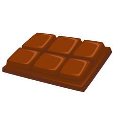 Dessert chocolate bar sweet food isolated dish vector