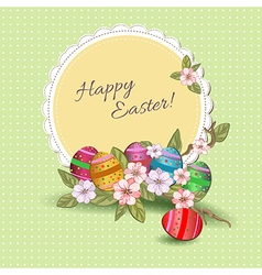 Easter napkin vector image