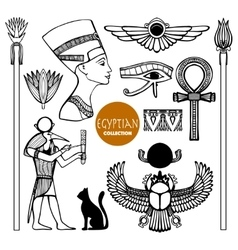 Egypt Symbols Set vector image