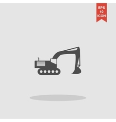 Excavator icon concept for vector image