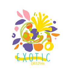 exotic tropical summer vacation logo design vector image