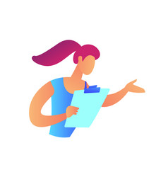 female manager with clipboard vector image