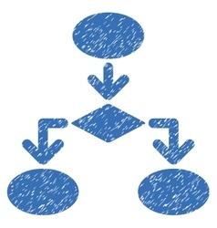 Flowchart Grainy Texture Icon vector