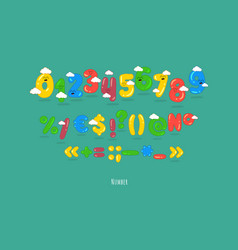 funny numbers vector image
