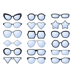 glasses silhouette various eyeglasses frames for vector image