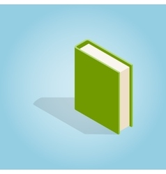 Green book icon isometric 3d style vector