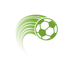 green football with track vector image