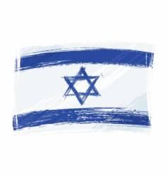 Grunge israel flag vector