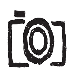 Hand drawn camera symbol1 vector image