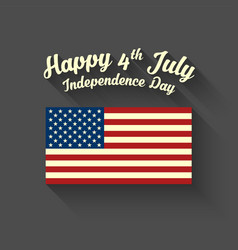 Happy independence day 4th july vector